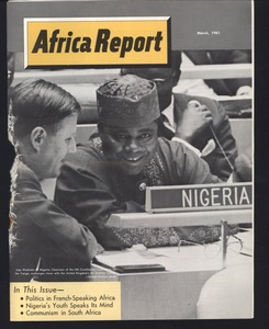 First page of African students survey: research material