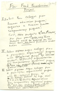 First page of Black colleges study
