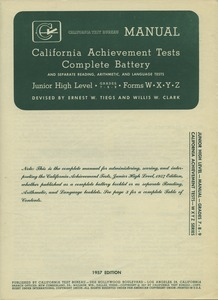First page of California tests, grade 7-adult