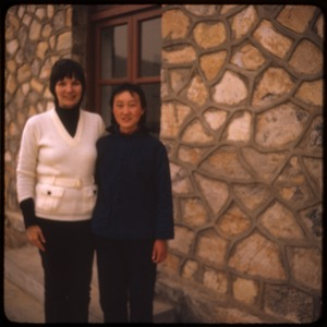 Thumbnail of Sandstone Hollow Mary Wenworth posed with guide Mme Li