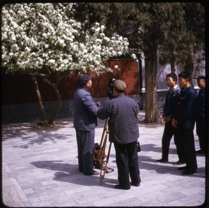 Thumbnail of Film makers Chinese camera crew with onlookers