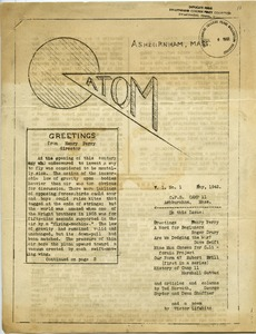 Thumbnail of Atom vol. 1, no. 1