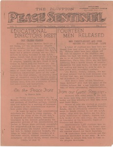 Thumbnail of The  Bluffton Peace Sentinel vol. 1, no. 7