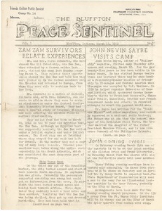 Thumbnail of The  Bluffton Peace Sentinel vol. 1, no. 17