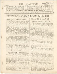 Thumbnail of The  Bluffton Peace Sentinel vol. 1, no. 18