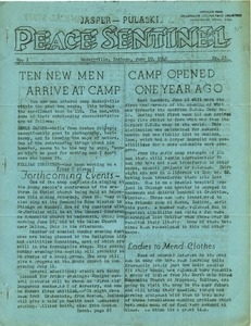 Thumbnail of Jasper-Pulaski Peace Sentinel Vol. 1, no. 23