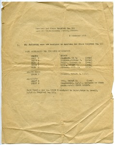 Thumbnail of American Red Cross Hospital 111 vehicle list