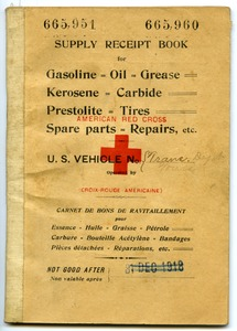 Thumbnail of American Red Cross supply receipt book