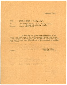 Thumbnail of Letter from Lloyd E. Walsh to Milton R. Brown
