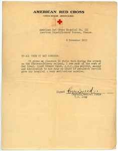 Thumbnail of Letter of commendation for Lloyd E. Walsh