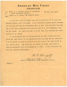 Thumbnail of Letter from O. G. Bright to Lloyd E. Walsh