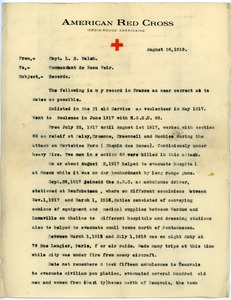 Thumbnail of Letter from Lloyd E. Walsh to Commander of Beauvoir