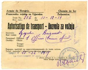 Transport authorization