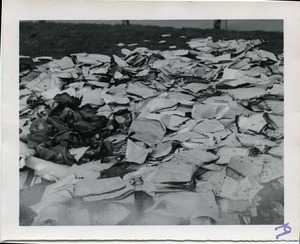 Thumbnail of The  left-over, but obliterated, records Image of draft records burned by the Milwaukee 14