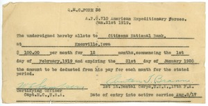 Thumbnail of Allotment form