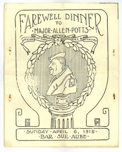 Thumbnail of Farewell dinner for Major Allen Potts