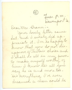 Thumbnail of Letter from Rhea Oppenheimer to Martha Brann