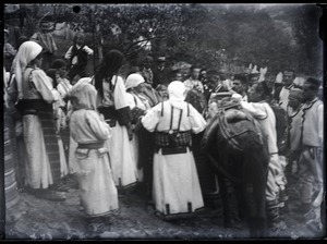 Thumbnail of Weddings Transporting the bride by horseback(?)