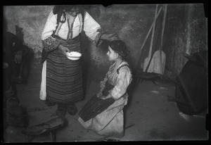 Thumbnail of Traditional medicine Treatment for the eyes [od oczi]: seated girl awaiting treatment