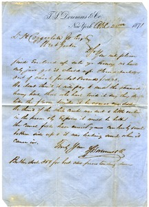 Thumbnail of Letter from T. S. Doremus & Co. to D. H. Coggeshall
