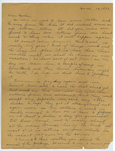 Thumbnail of Letter from Katherine Irey to Sarah Kessel