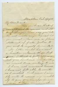 Thumbnail of Letter from B. S. Greenwell to Louisa Gass