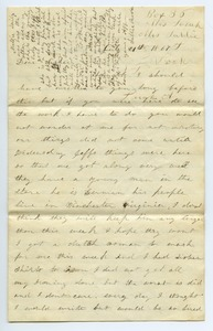Thumbnail of Letter from Sallie Boden to Sarah Boden