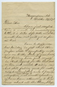 Thumbnail of Letter from Samp King to Louisa Gass