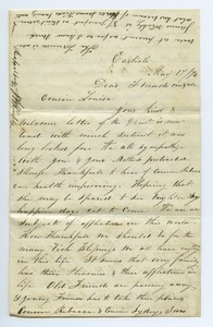 Thumbnail of Letter from J. B. Weakley to Louisa Gass