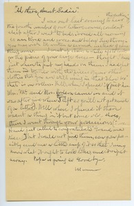 Thumbnail of Letter from Louisa Gass to Sadie Kessel