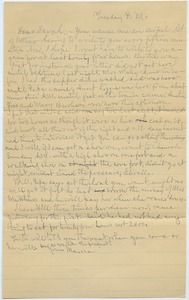 Thumbnail of Letter from Louisa Gass to Sarah Kessel