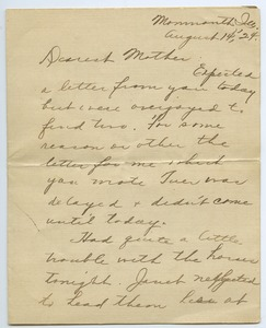 Thumbnail of Letter from Mary Burgett to Sarah Kessel