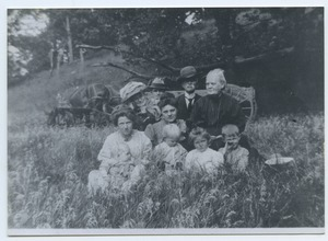 Thumbnail of Burgett family portrait in a field