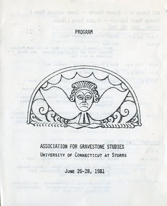 Thumbnail of Program : Association for Gravestone Studies University of Connecticut at Storrs, June 26-28, 1981
