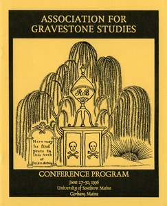 Thumbnail of Association for Gravestone Studies conference program June 27-30, 1996, University of Southern Maine, Gorham, Maine