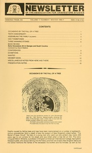 Thumbnail of Newsletter of the Association for Gravestone Studies Vol. 11, no. 1 Winter