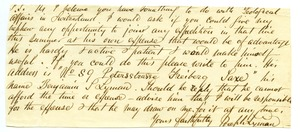 Thumbnail of Letter from Joseph Lyman to Unidentified