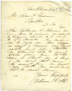 Thumbnail of Letter from William H. Otis to Amos Adams Lawrence