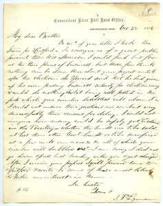 Thumbnail of Letter from Samuel Fowler Lyman to Joseph Lyman