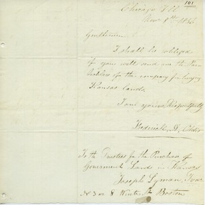 Thumbnail of Letter from Frederick H. Oldis to Joseph Lyman