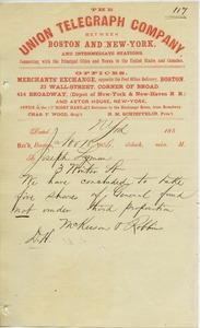 Thumbnail of Letter from McKesson and Robbins to Joseph Lyman