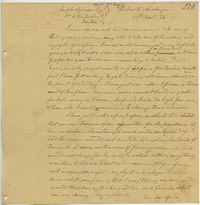 Thumbnail of Letter from Joseph Speed to Joseph Lyman