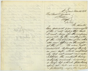 Thumbnail of Letter from Simmons and Leadbeater to Amos Adams Lawrence