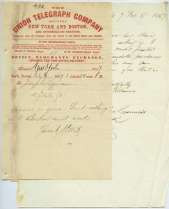 Thumbnail of Letter from Sarah Pellet to Joseph Lyman