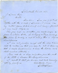 Thumbnail of Letter from Chester W. Chapin to Joseph B. Lyman