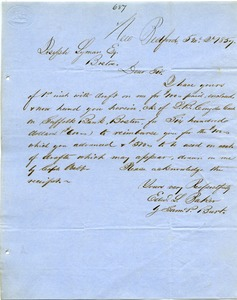 Thumbnail of Letter from Edward L. Parker and Samuel P. Burt to Joseph Lyman