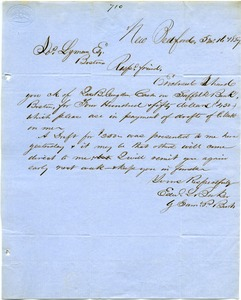 Thumbnail of Letter from Edward L. Barker and Samuel P. Burt to Joseph Lyman