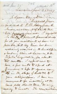 Thumbnail of Letter from Charles Robinson to Joseph Lyman