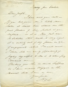 Thumbnail of Letter from F. C. Loring to unidentified correspondent