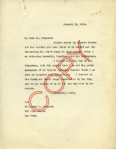 Thumbnail of Letter from Frank Lyman to Clarion Kennels